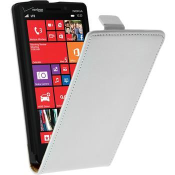 Kunst-Lederhülle Lumia 930 Flip-Case weiß