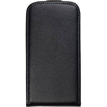 Artificial Leather Case for Samsung Galaxy Ace 2 Flipcase black