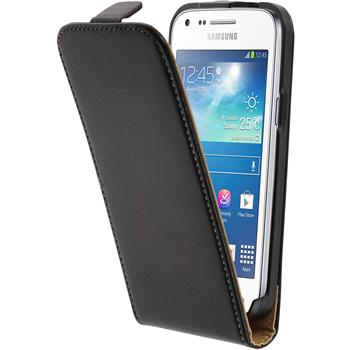 Artificial Leather Case for Samsung Galaxy Core Plus Flipcase black