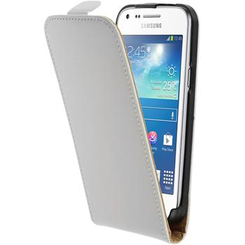 Kunst-Lederhülle Galaxy Core Plus Flip-Case weiß