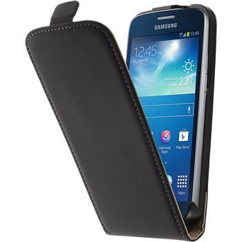 Kunst-Lederhülle für Samsung Galaxy Express 2 Flip-Case schwarz + 2 Schutzfolien