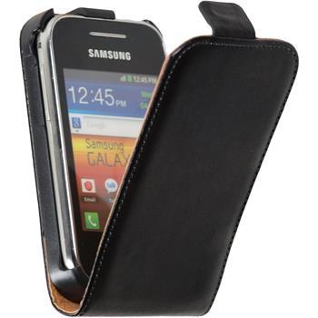 Artificial Leather Case for Samsung Galaxy Y Flipcase black