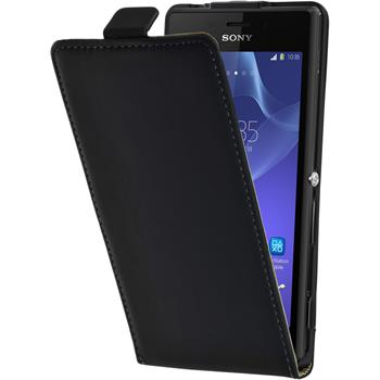 Artificial Leather Case for Sony Xperia M2 Flipcase black