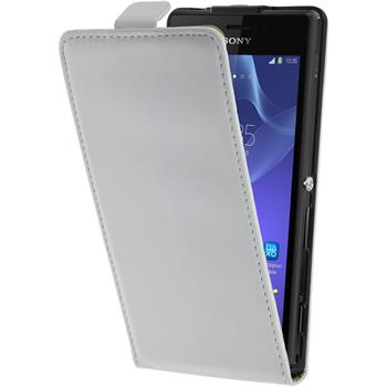 Artificial Leather Case for Sony Xperia M2 Flipcase white