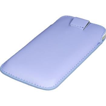 Kunst-Lederhülle für Samsung Ativ S Tasche lila + 2 Schutzfolien