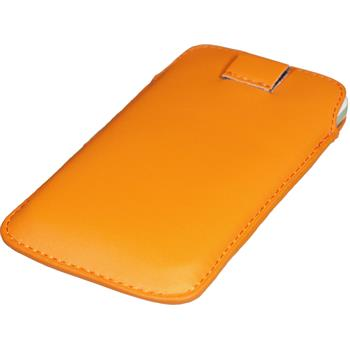 Artificial Leather Case for Samsung Ativ S Bag orange