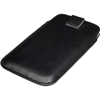 Artificial Leather Case for HTC One Bag black