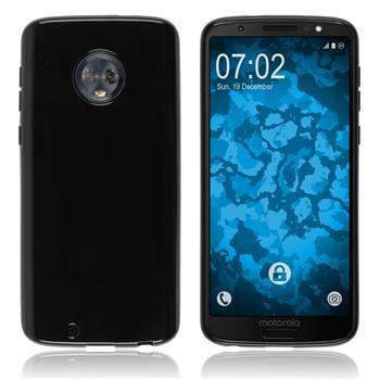 Silikon Hülle Moto G6  schwarz Case
