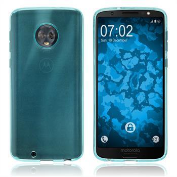 Silikon Hülle Moto G6 transparent türkis Case