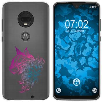 Motorola Moto G7 Silicone Case floral M2-6