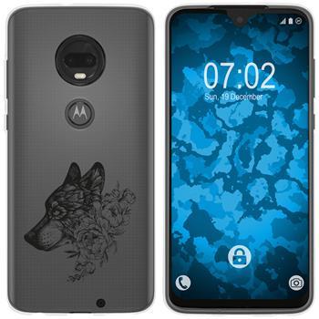 Motorola Moto G7 Plus Silicone Case floral M3-1