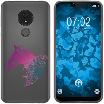 Motorola Moto G7 Power Silicone Case floral M5-6