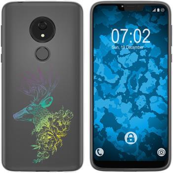 Motorola Moto G7 Power Silicone Case floral M7-4