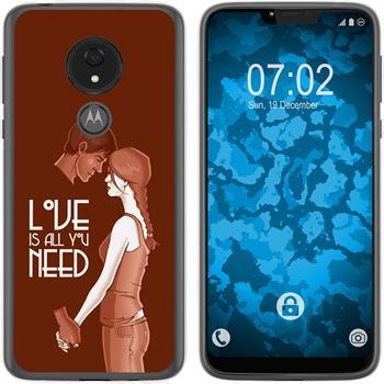 Motorola Moto G7 Power Silicone Case in Love M3