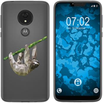 Motorola Moto G7 Power Silicone Case vector animals sloth M6
