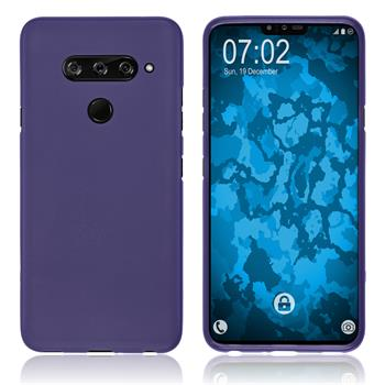 Silicone Case V40 ThinQ matt purple Cover