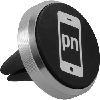 Lüftungsschlitz Handy-Halterung Universal passend für Smartphones in silber