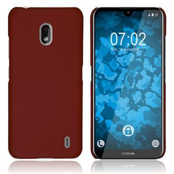 Hardcase Nokia 2.2 rubberized red + protective foils