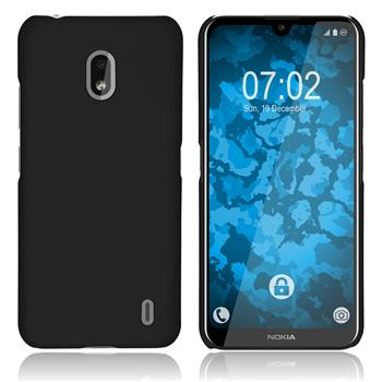 Hardcase Nokia 2.2 rubberized black + protective foils