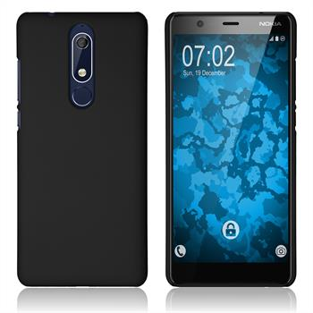 Hardcase Nokia 5.1 rubberized black Cover