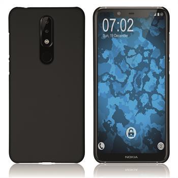 Hardcase Nokia 5.1 Plus gummiert schwarz Cover