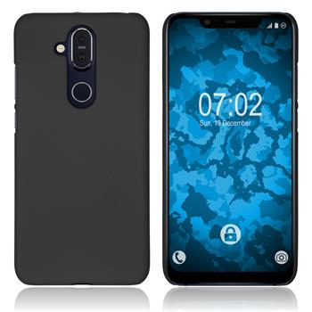 Hardcase Nokia 8.1 (X7) rubberized black Cover