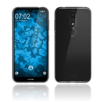 Silicone Case Nokia 4.2 transparent Crystal Clear + protective foils