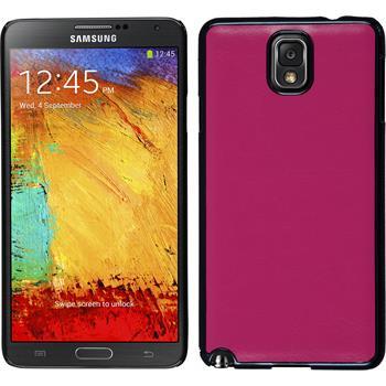 Hardcase Galaxy Note 3 Lederoptik pink + 2 Schutzfolien