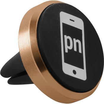 PhoneNatic air vent car mount for smartphones in gold