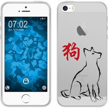 Apple iPhone 5 / 5s / SE Silikon-Hülle Tierkreis Chinesisch Motiv 11