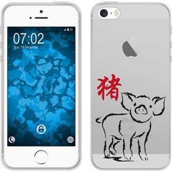 Apple iPhone 5 / 5s / SE Silikon-Hülle Tierkreis Chinesisch Motiv 12
