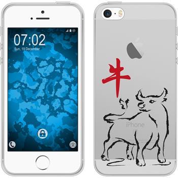Apple iPhone 5 / 5s / SE Silikon-Hülle Tierkreis Chinesisch Motiv 2