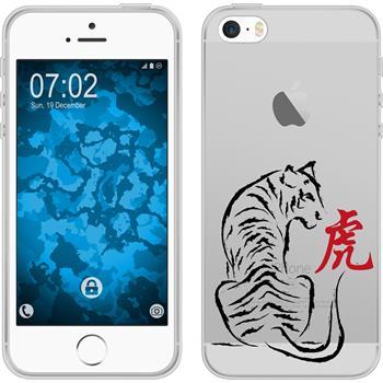 Apple iPhone 5 / 5s / SE Silikon-Hülle Tierkreis Chinesisch Motiv 3