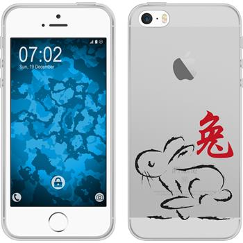 PhoneNatic Apple iPhone 5 / 5s / SE Silicone Case Chinese Zodiac design 4 Case iPhone 5 / 5s / SE + protective foils