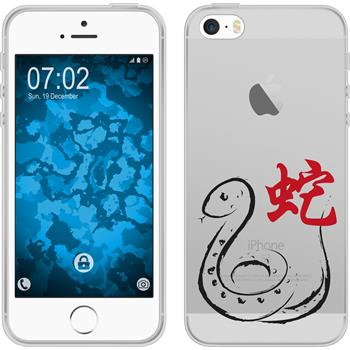 PhoneNatic Apple iPhone 5 / 5s / SE Silicone Case Chinese Zodiac design 6 Case iPhone 5 / 5s / SE + protective foils