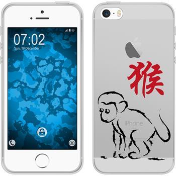 Apple iPhone 5 / 5s / SE Silikon-Hülle Tierkreis Chinesisch Motiv 9