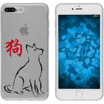 PhoneNatic Apple iPhone 7 Plus Silicone Case Chinese Zodiac design 11 Case iPhone 7 Plus + protective foils