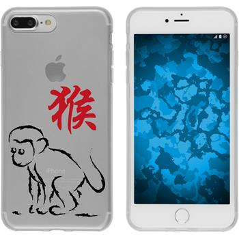 PhoneNatic Apple iPhone 7 Plus Silicone Case Chinese Zodiac design 9 Case iPhone 7 Plus + protective foils