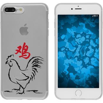 Apple iPhone 7 Plus Silikon-Hülle Tierkreis Chinesisch Motiv 10