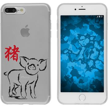 Apple iPhone 7 Plus Silikon-Hülle Tierkreis Chinesisch Motiv 12