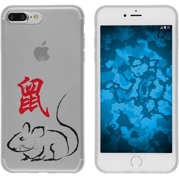 Apple iPhone 7 Plus Silikon-Hülle Tierkreis Chinesisch Motiv 1