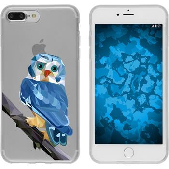 Apple iPhone 7 Plus Silikon-Hülle Vektor Tiere Motiv 1