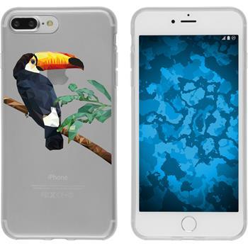 Apple iPhone 7 Plus Silikon-Hülle Vektor Tiere Motiv 5