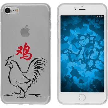 PhoneNatic Apple iPhone 7 Silicone Case Chinese Zodiac design 10 Case iPhone 7 + protective foils