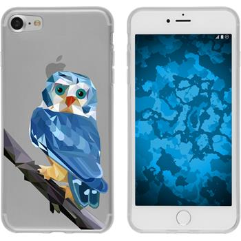 PhoneNatic Apple iPhone 7 Silicone Case vector animals design 1 Case iPhone 7 + protective foils