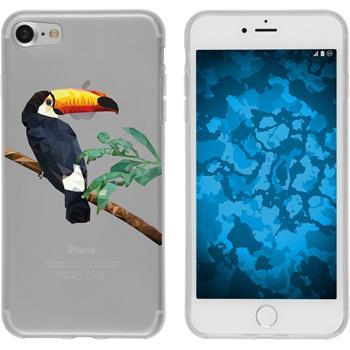 PhoneNatic Apple iPhone 7 Silicone Case vector animals design 5 Case iPhone 7 + protective foils