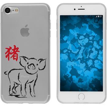 Apple iPhone 7 Silikon-Hülle Tierkreis Chinesisch Motiv 12