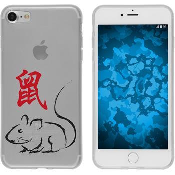 Apple iPhone 7 Silikon-Hülle Tierkreis Chinesisch Motiv 1