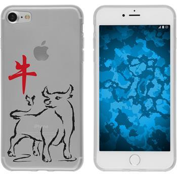 Apple iPhone 7 Silikon-Hülle Tierkreis Chinesisch Motiv 2
