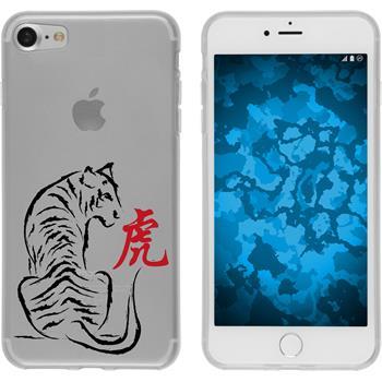 Apple iPhone 7 Silikon-Hülle Tierkreis Chinesisch Motiv 3